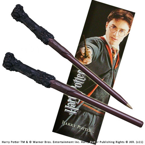 Bacchetta Harry Potter con penna