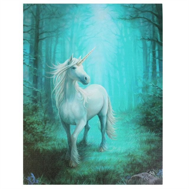 Canvas - Forest unicorn di Anne Stokes