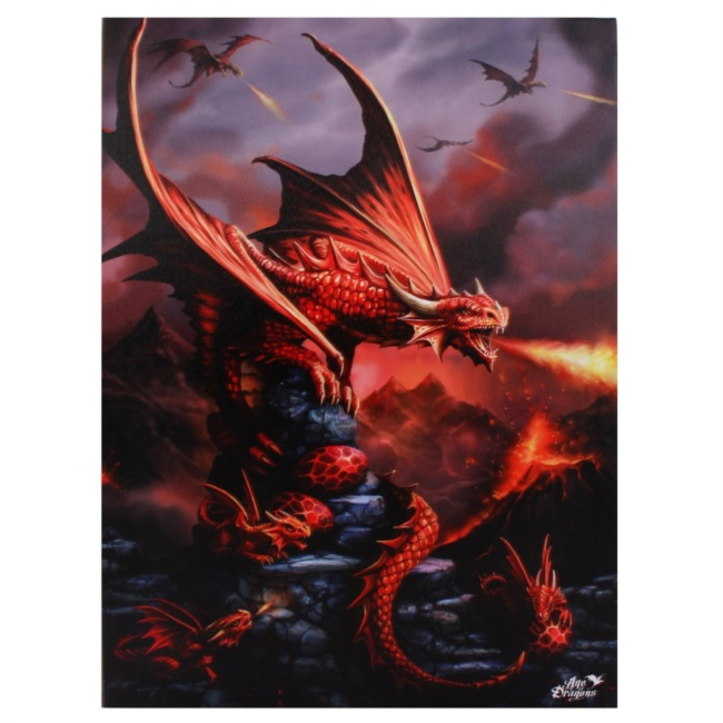 Canvas Grande - Fire Dragon