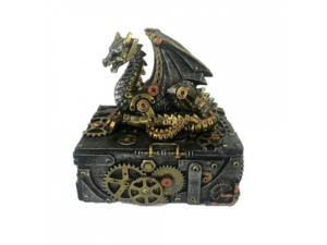 Cofanetto con drago steampunk