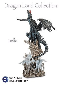 Dragon Land BELFA Drago con Cuccioli (54cm)