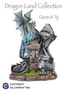 Dragon Land QUEN e TY Draghi sui Sassi (36cm)