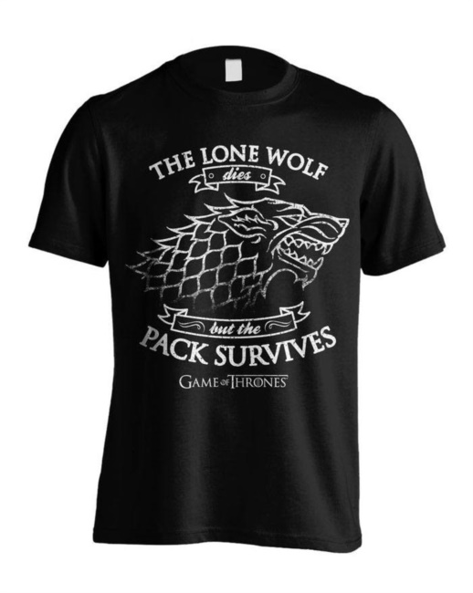 Game Of Thrones T-Shirt Lone Wolf