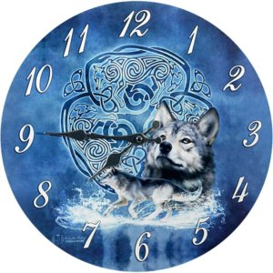 Orologio Celtic Wolf by Brigid Ashwood