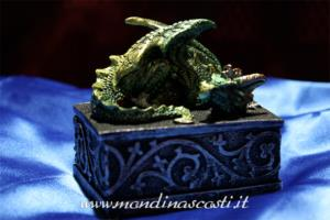 Scatola con drago guardiano Verde